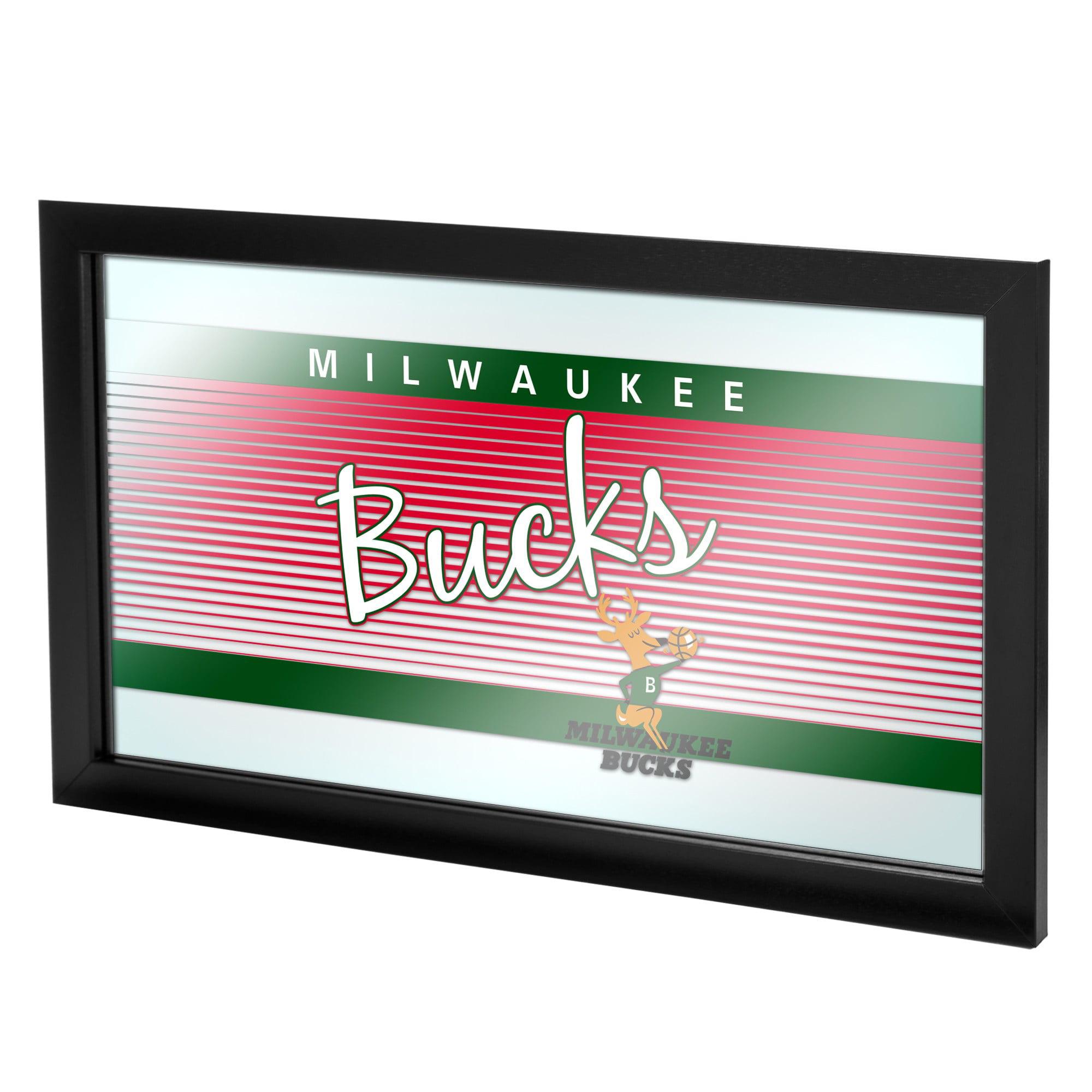 Milwaukee Bucks Hardwood Classics NBA Logo Mirror