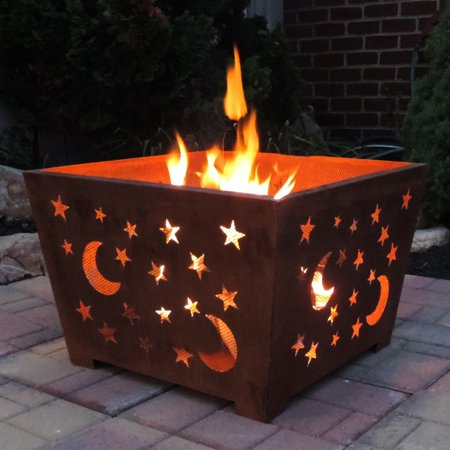 Esschert Design Star and Moon 23.5 in. Fire Pit ()