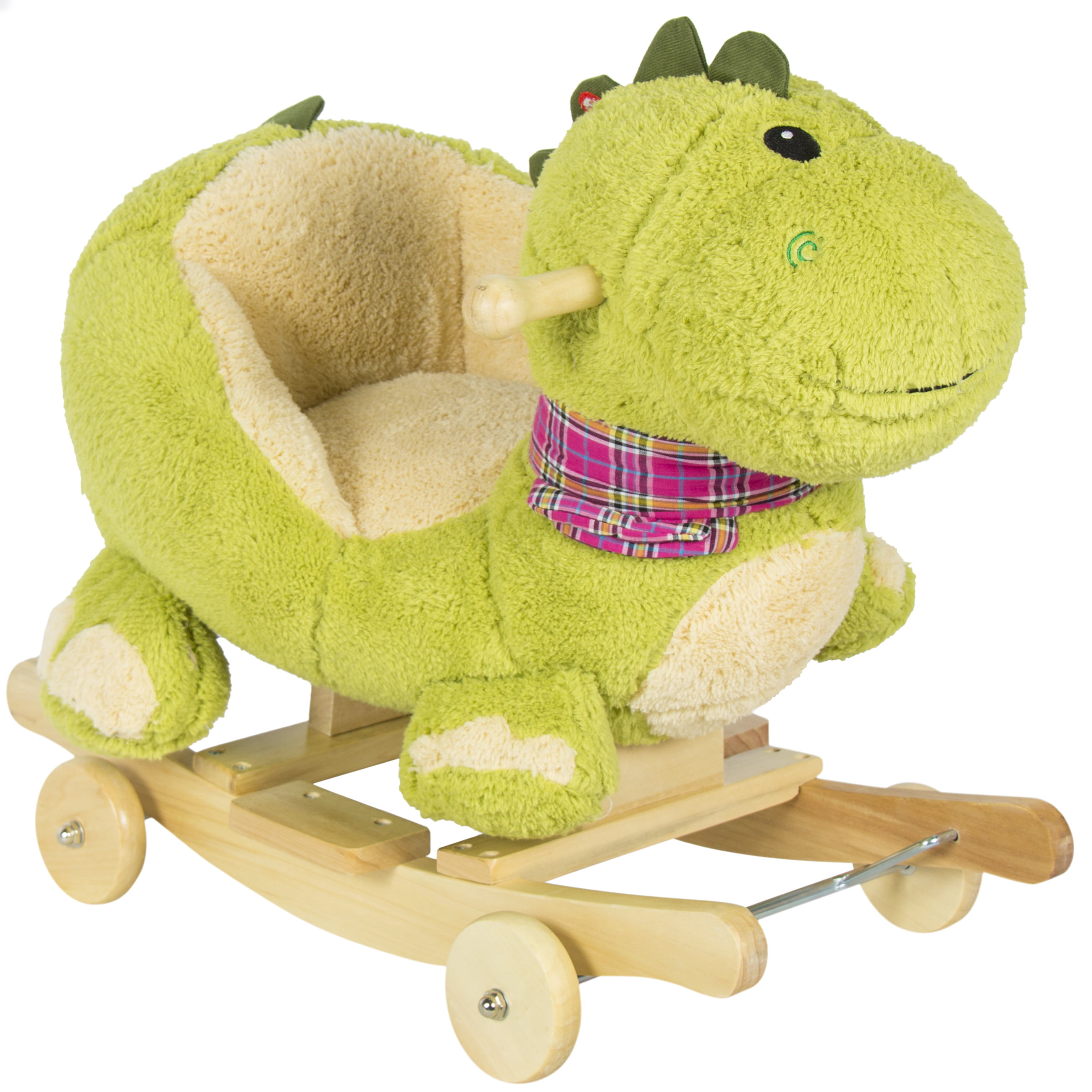 Kids Dragon Animal Rocker w Wheels Children Ride Dinosaur Toy