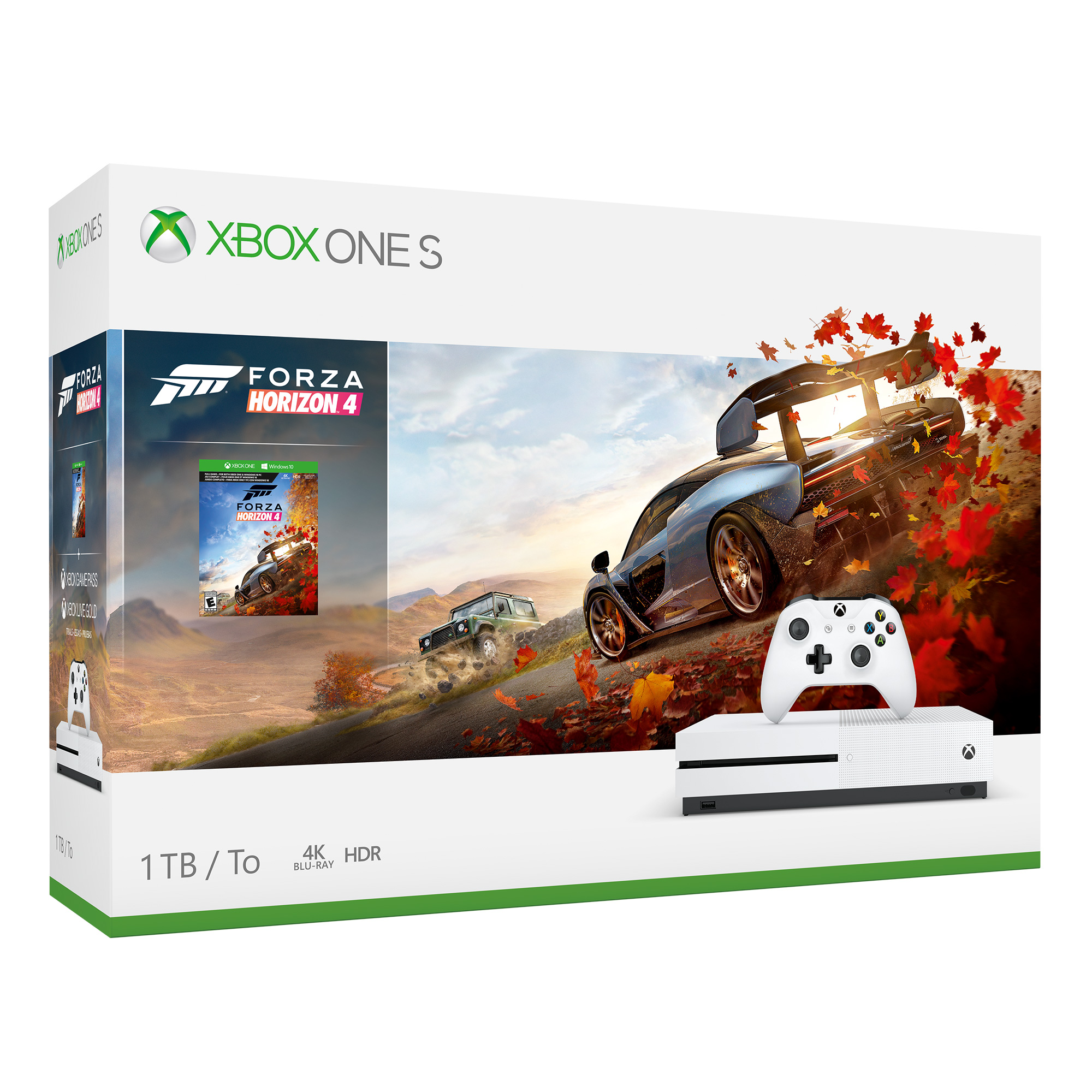 Microsoft Xbox One S 1TB Forza Horizon 4 Bundle, White, 234-00552