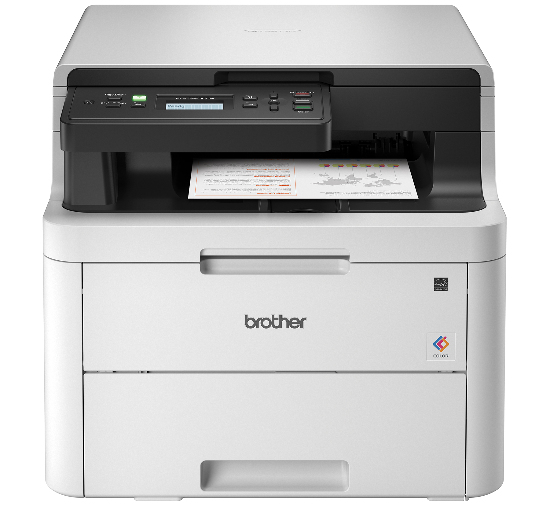 f88276c6e Brother HL-L3290CDW Compact Digital Color Printer Providing Laser Quality  Results with Convenient Flatbed Copy   Scan