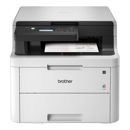 Brother HL-L3290CDW Compact Digital Color Printer Providing Laser Quality Results with Convenient Flatbed Copy & Scan, Plus Wireless and Duplex