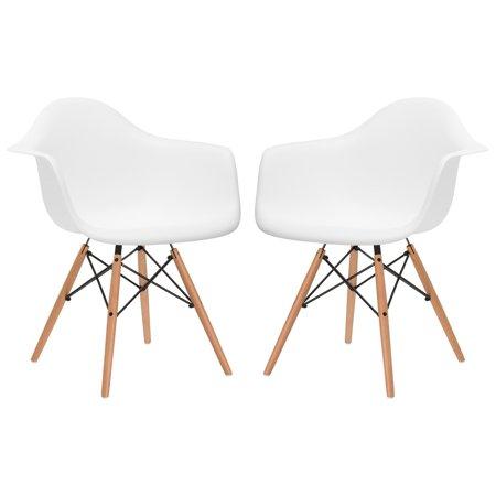 EdgeMod Vortex Arm Chair with Natural Legs - Set of 2