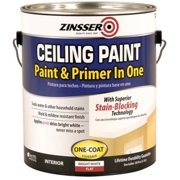 Zinsser Ceiling Paint with Superior Stain-Blocking, Bright White