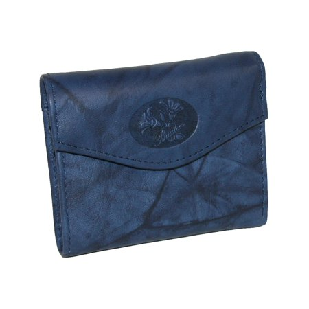 Buxton  Leather Mini Trifold Wallet with Floral Emboss (Women's) Buxton Mini Mini Bag