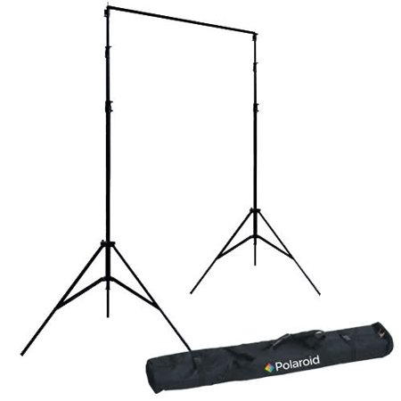 Polaroid Pro Studio Telescopic Background Stand Backdrop Support System Includes Deluxe Carrying Case + Polaroid Pro Studio Green Chroma-Key Premium Muslin Backdrop (10' x (Chroma Key Digital Backgrounds)