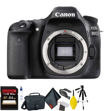 Canon EOS 80D DSLR Camera Body Only + 64GB Memory Card Bundle025