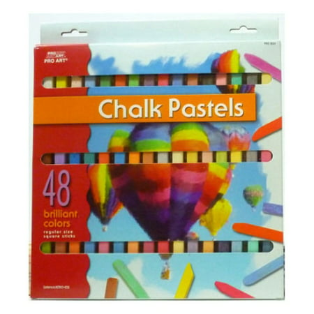 Artist Chalk Pastels: 48 pack (Compressed Chalk)