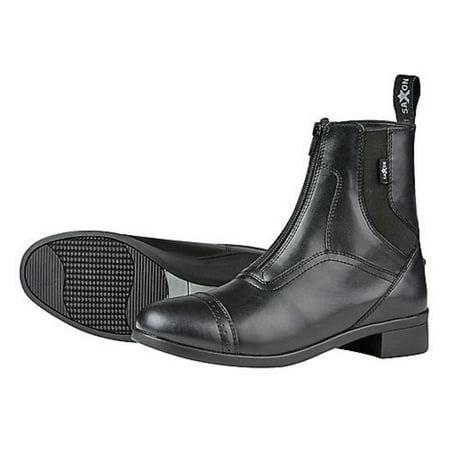 Saddle Kids Boots - Saxon Childs Syntovia Zip Paddock Boot (13, Black)