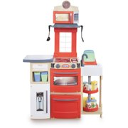 Little Tikes Cook 'n Store Play Kitchen with 32 Piece Accessory Play Set - Red