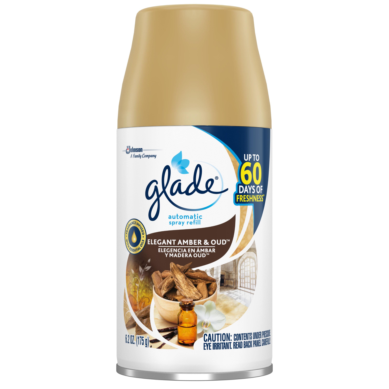 Glade Automatic Spray Air Freshener, Elegant Amber & Oud™, 1 ct, 6.2 oz