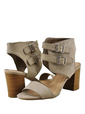 bb0d6e704f5 Product Image Delicious Surrell S Women Open Toe Gladiator Double Buckle  Heel