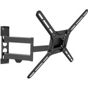 Barkan 29- 65 Full Motion - 4 Movements, Flat / Curved TV Wall Mount, Dual-Arm, Patented, Black, Up to 88 lbs, UL Listed, Lifetime Warranty.