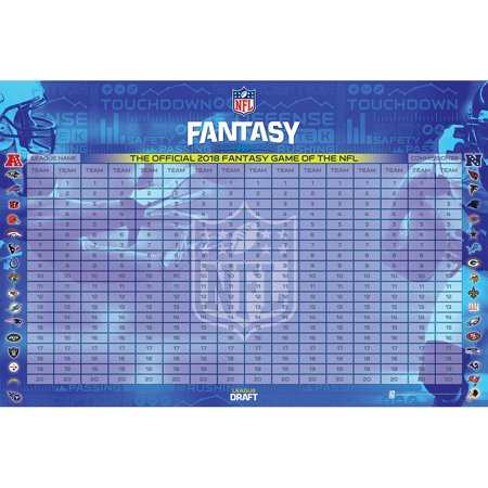 NFL 2018 Fantasy Football Draft Kit - No Size (Best Nfl Fantasy Draft App)