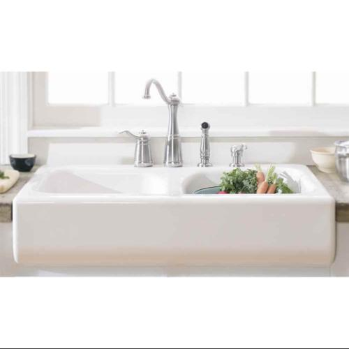 Lyons Industries Dks01ap 3 5 Designer White Apron Front Dual Bowl