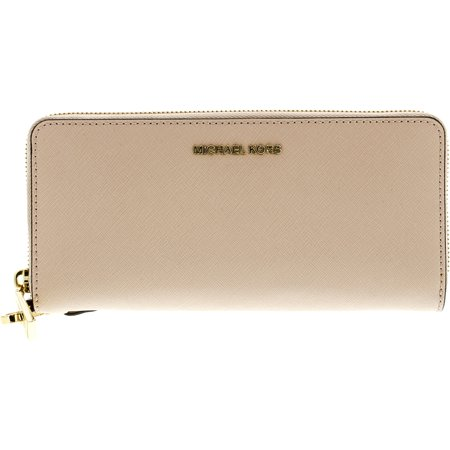 652d268075486 Michael Kors - Michael Kors Women s Jet Set Travel Leather Continental  Wallet Wristlet - Soft Pink - Walmart.com