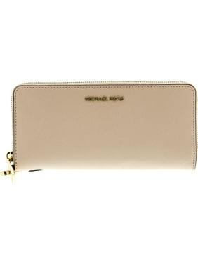4cd5f2c38910b8 Product Image Michael Kors Women's Jet Set Travel Leather Continental Wallet  Wristlet - Soft Pink