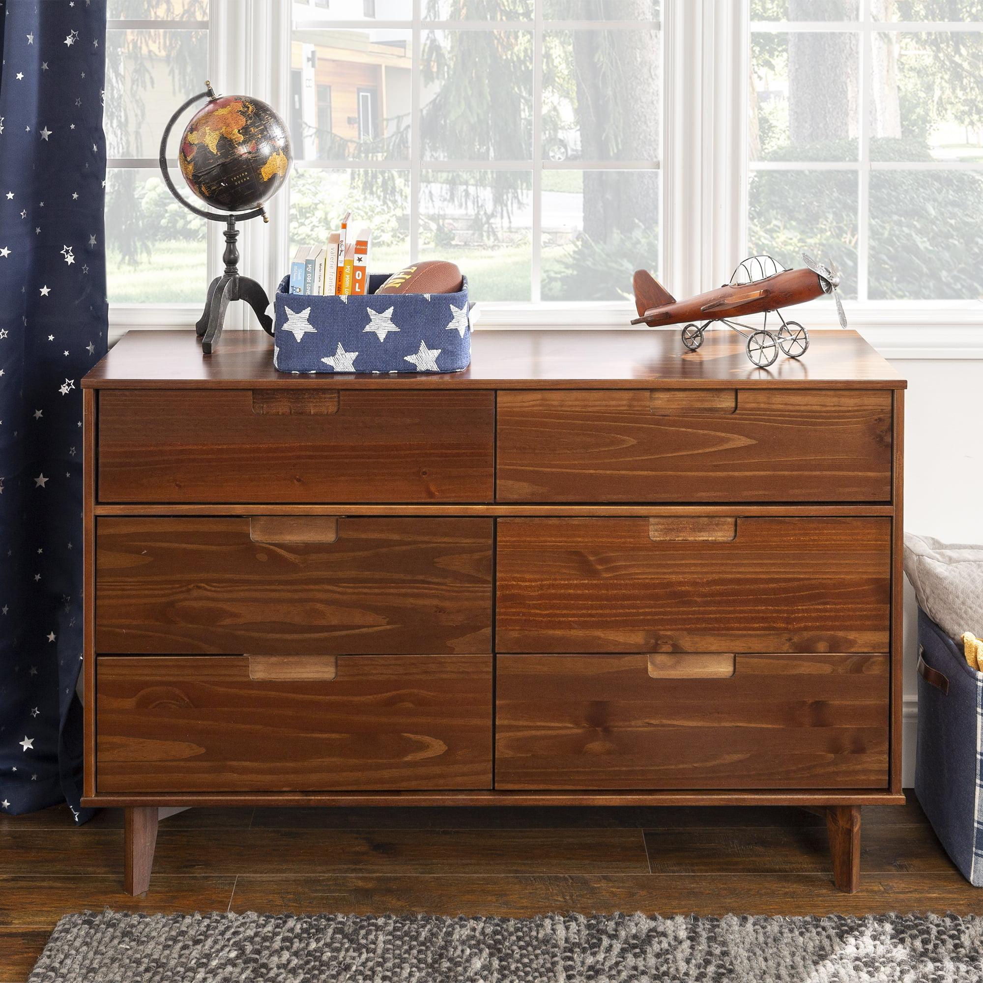 Sonoma 6 Drawer Solid Wood Walnut
