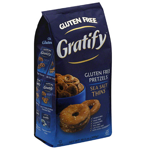 Gratify Sea Salt Thins Gluten Free Pretzels, 10.5 oz, (Pack of 6) by Generic