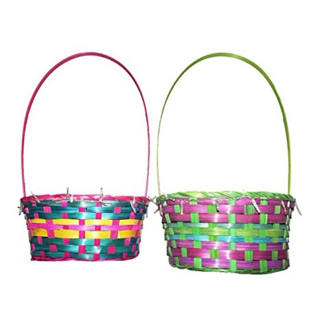Easter Colorful Light-Up 7 x 4.5 x 10 Inch Basket, Assorted - Colors - Colorful Easter Baskets