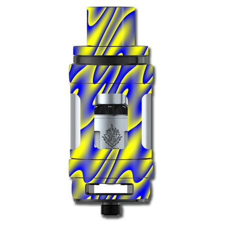 Skins Decals For Smok Tfv12 Cloud King Tank Vape Mod / Neon Blue Yellow