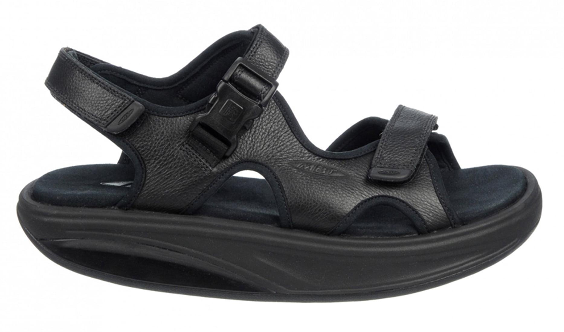 Kisumu 3S Black Leather Sandal