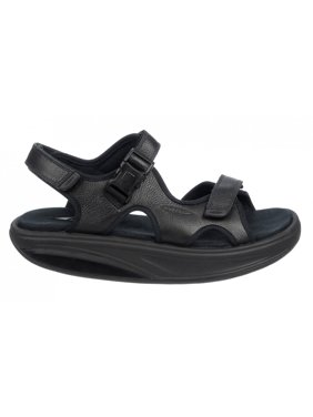 MBT Shoes Men's Kisumu 3S Black Leather Sandal: 6 Medium (D) Sandal/Black Velcro