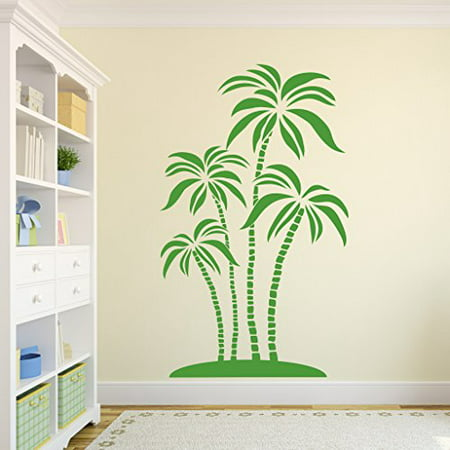 Abstract Palms Wall Decal Wall Sticker Vinyl Wall Art Home Decor Wall Mural SA3063 23in x 39in Hazelnut