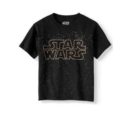 Short Sleeve Star Wars Title Logo Graphic Tee (Little Boys & Big Boys)](Childrens Star Wars Clothing)