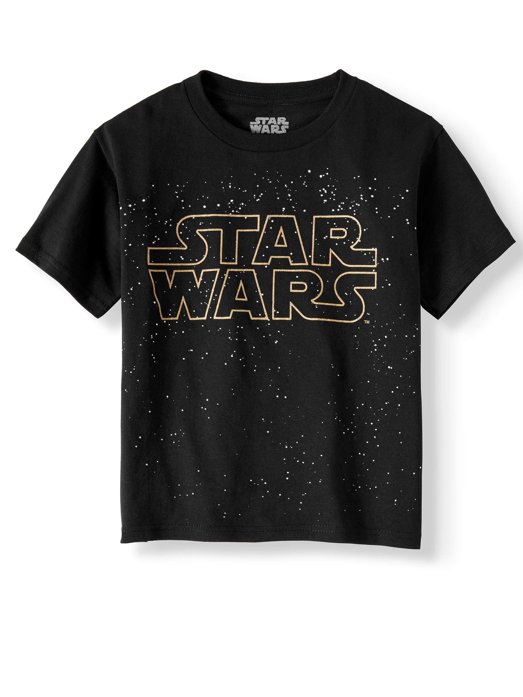 Short Sleeve Star Wars Title Logo Graphic Tee (Little Boys & Big Boys)