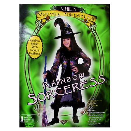Fun World Girls 'Rainbow Sorceress' Halloween - Fun Halloween Costumes For Girls