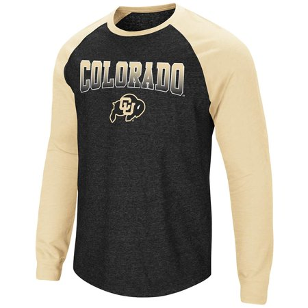 Mens Colorado Buffaloes Long Sleeve Raglan Tee Shirt - L