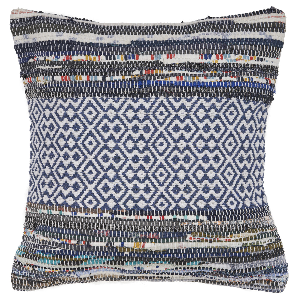 "LR Home Geometric Diamond Shape Multi Color Throw Pillow 18"" x 18"""
