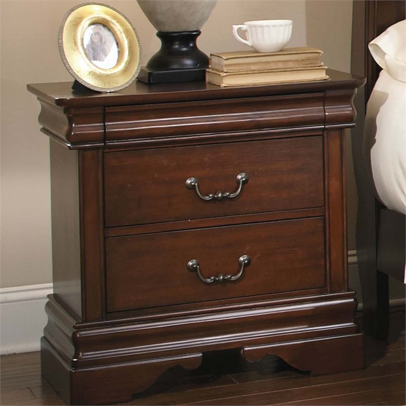 Liberty Furniture Carriage Court Nightstand in Mahogany Stain