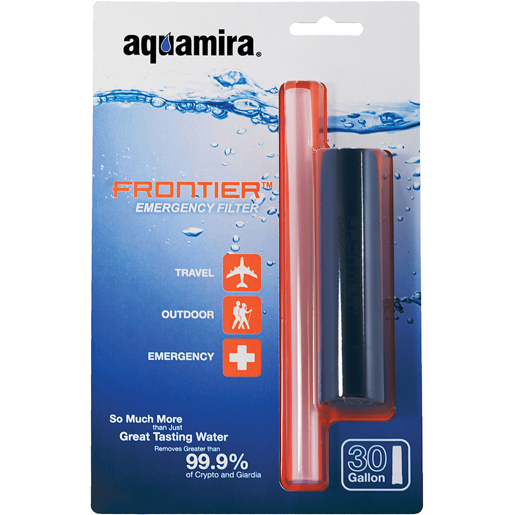 Aquamira Frontier Filter, Emergency Water Filter System, Filters Up to 20 Gallons of Water by Aquamira Technologies