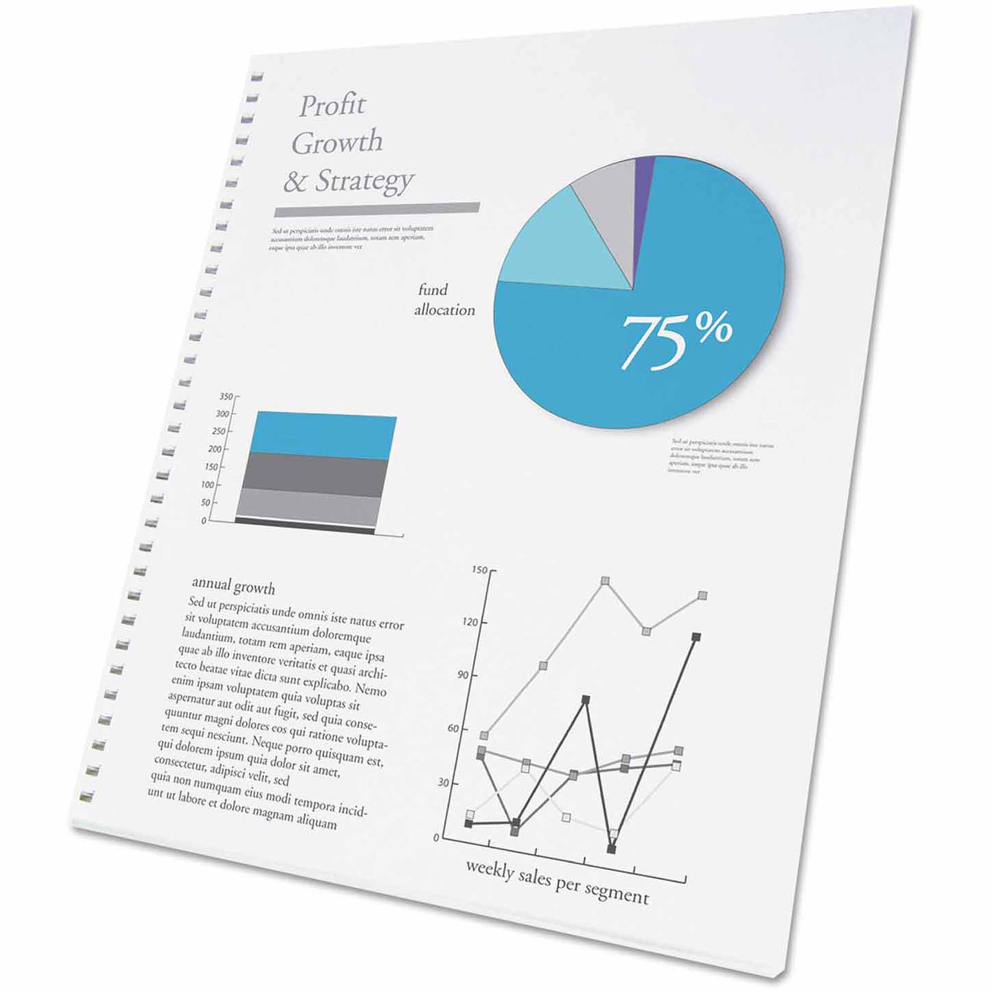 Swingline GBC ProClick Presentation Paper, 8-1/2 x11, White, 250 Sheets