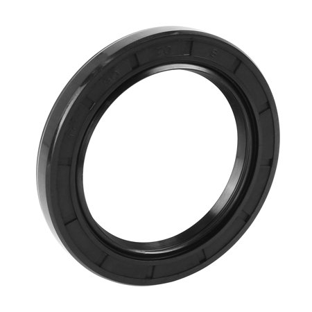 50mm x 70mm x 8mm Black Nitrile Butadiene Rubber Cover Double Lip TC Oil Shaft Seal for Car Auto Black Stained Shaft