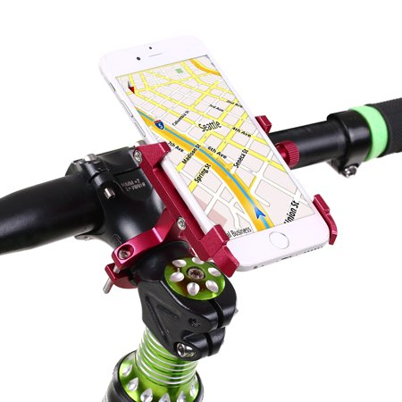 Metal Bicycle CNC Universal Cellphone Bracket Adjustable Bike Handle Bar Cell Phone Holder Clipper for Motorcycle Scooter