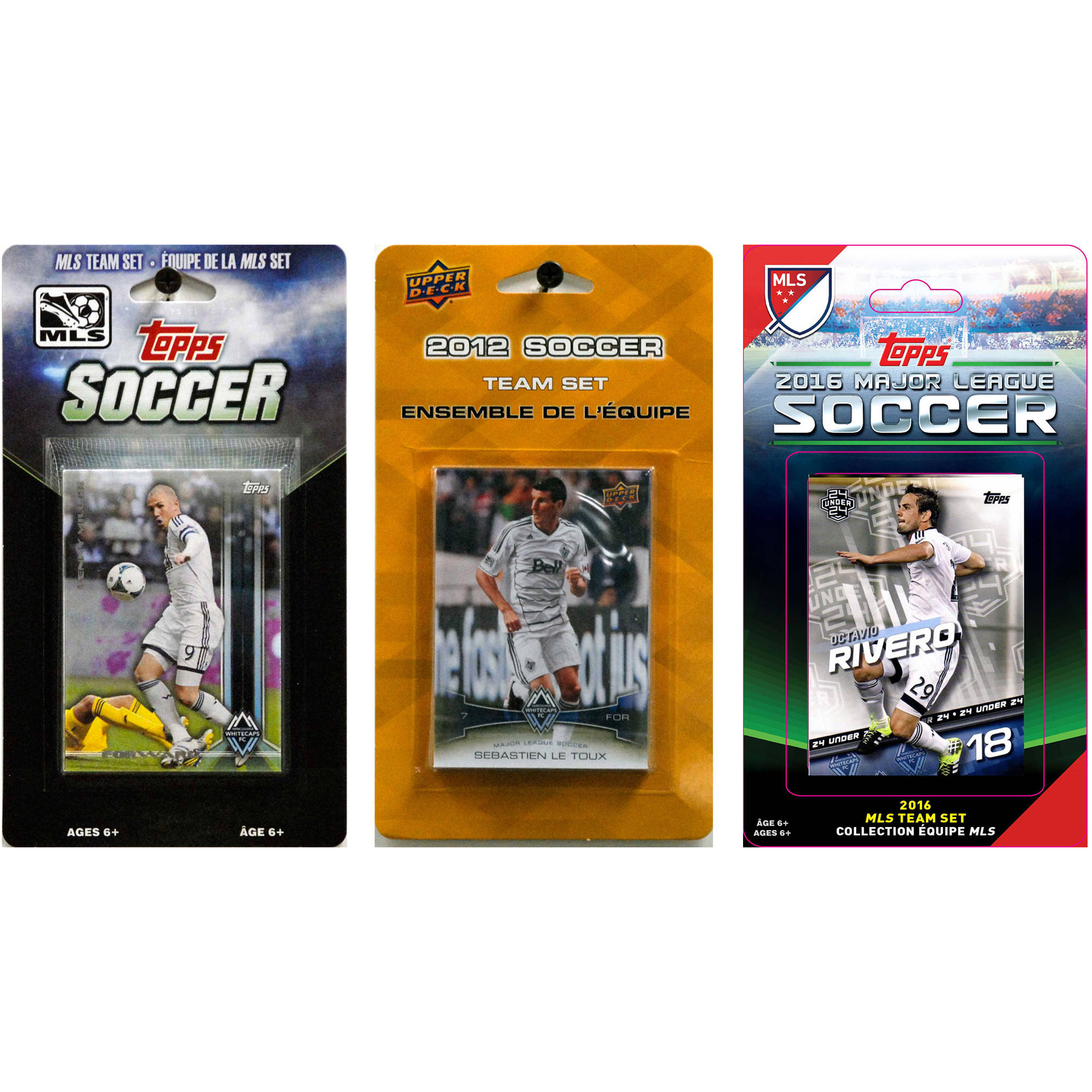 C&I Collectables MLS Vancouver Whitecaps 3 Different Licensed Trading Card Team Sets