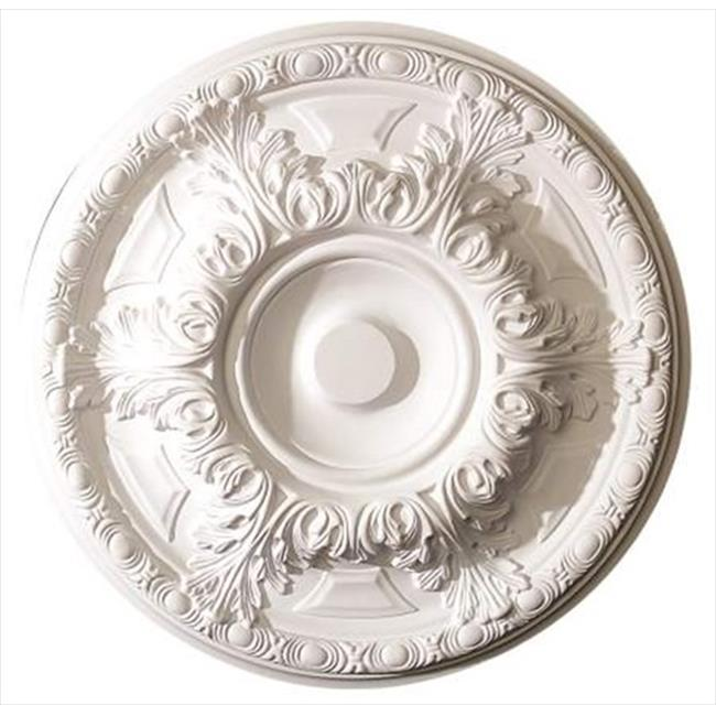 American Pro Decor 5APD10221 19 in. Leaf And Running Bead Ceiling Medallion