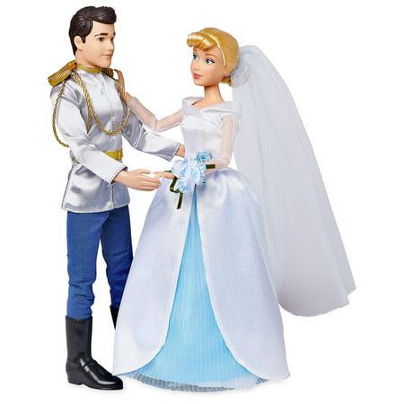 Disney Princess Classic Cinderella & Prince Charming Wedding Doll 2-Pack Set Wedding Doll Set