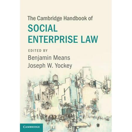 The Cambridge Handbook of Social Enterprise Law