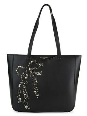 Bow Embellished Tote Bag