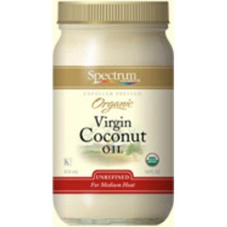 Unrefined Organic Coconut Oil Spectrum Essentials 14 oz