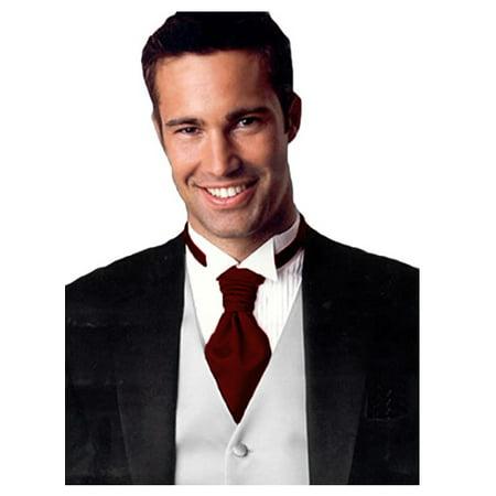 (Smart Tuxedo Sharpei Tuxedo Satin knotted Tie Red)