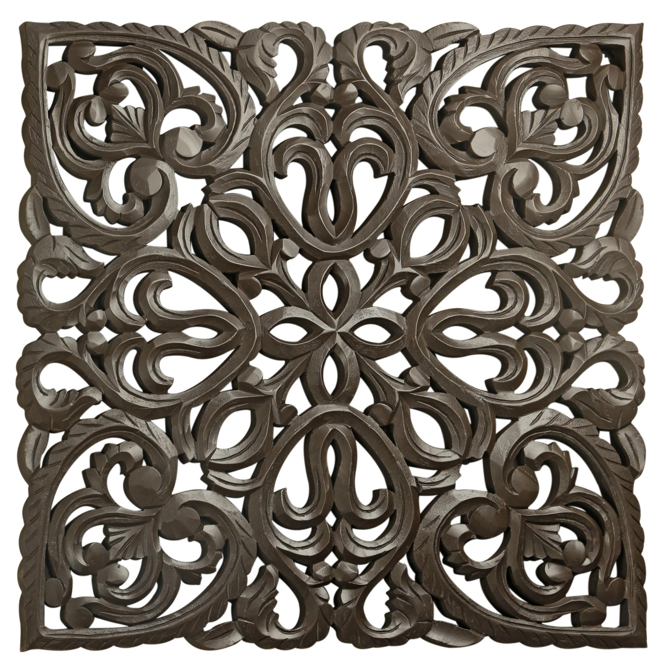 "St. Croix Trading Company 30"" Brown Solaris Eight Wooden Wall Panel"