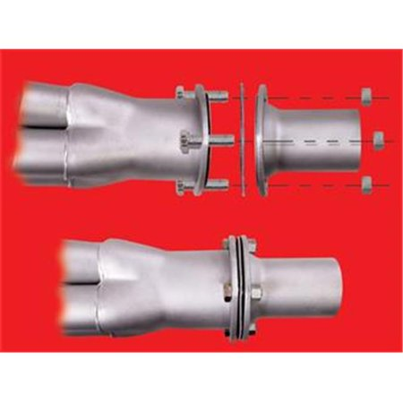 HEDMAN 21118 Exhaust Header Reducer - 3 To 3 In. - image 2 de 2