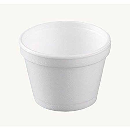 Dart 12SJ20, 12 Oz. Customizable White Foam Cold And Hot Food Container with Foam Vented Lid, Dessert Ice-Cream Yogurt Cups, Deli Food Containers with Matching Covers (50)](Customizable Cups)