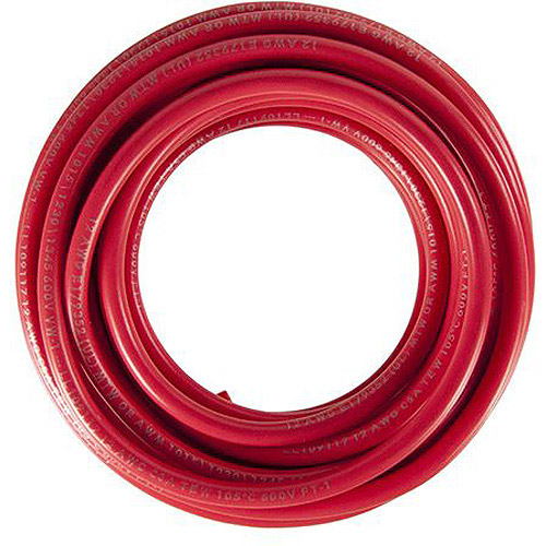 JT&T Products 3122F 12 AWG Red 1015 Motor Wire, 12' Cut