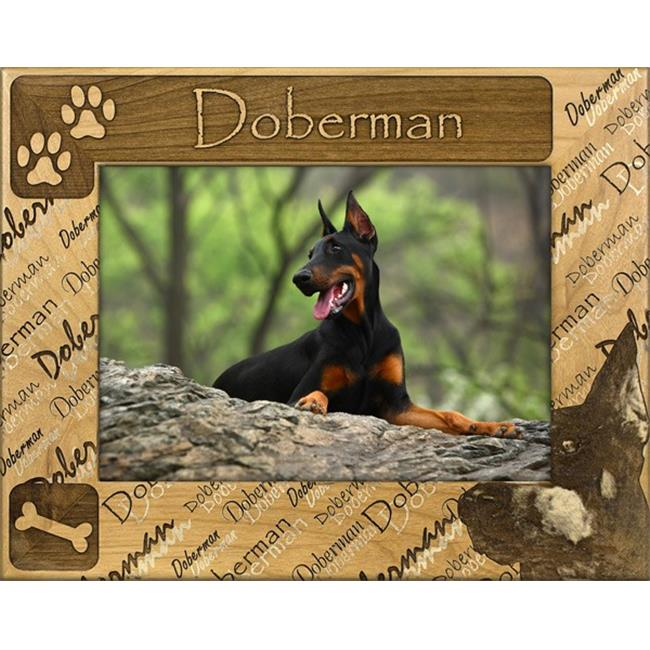 Giftworks Plus DBA0067 Doberman, Alder Wood Frame, 5 x 7 In